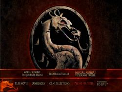 Mortal Kombat Blu-Ray Special Features